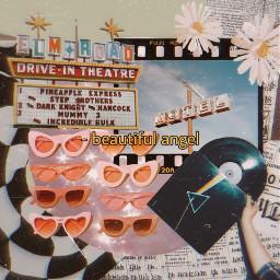 freetoedit vintage america sunglasses background flowers aesthetic newspaper plate music motel drivein beautiful angel film edit picsart stickers filters mask