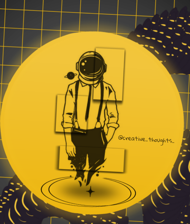#freetoedit #astronout #yellow #frame  #creative_thoughts