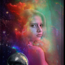 freetoedit space exploration woman galaxy myedit ircupinspace upinspace