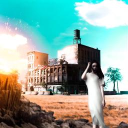freetoedit visualart cyan girl manipulation
