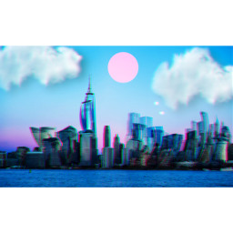 replay madewithpicsart freetoedit glitch cityscape dreamscape unsplash