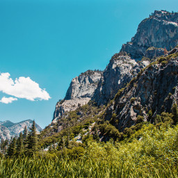 landscape mountain rock mountains grass green sky blue plant nature cloud clouds peak cliff wilderness park nationalpark sequoia freetoedit photography