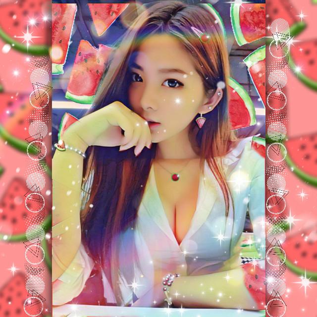 #freetoedit #watermelon #watermelongirl #koreangirl