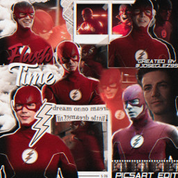 freetoedit theflashseason6 grantgustin complexedit cwtheflash red flashtime vhs2 dccomics
