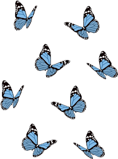 freetoedit blue butterfly butterflies bluebutterfly aesthetic blueaesthetic blackandwhite bluebutterflies bugs beautiful pretty girly sticker blues bluebugs art prettyblue