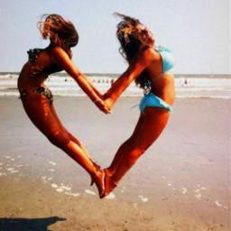 freetoedit summer vibes beach heart bff sea seaside ocean sunny fyp xialuna