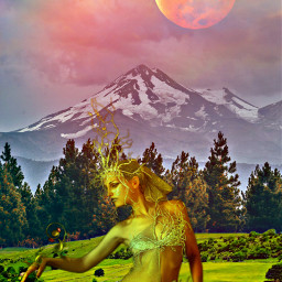 freetoedit fantasyart makebelieve alternateuniverse myimagination woman elf fairy faerie naturesbeauty colorful aprl filters prism prismeffect prismlights prism13 artisticedit becreative myedit madewithpicsart