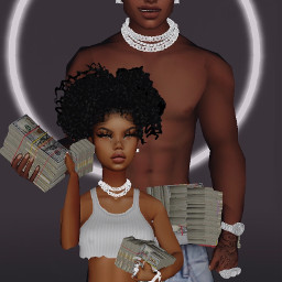 imvu imvucouple couplegoals imvucouplegoals money black drip twin matching freetoedit