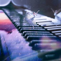 freetoedit sky piano ballerina pinterest srcglitteroverlay
