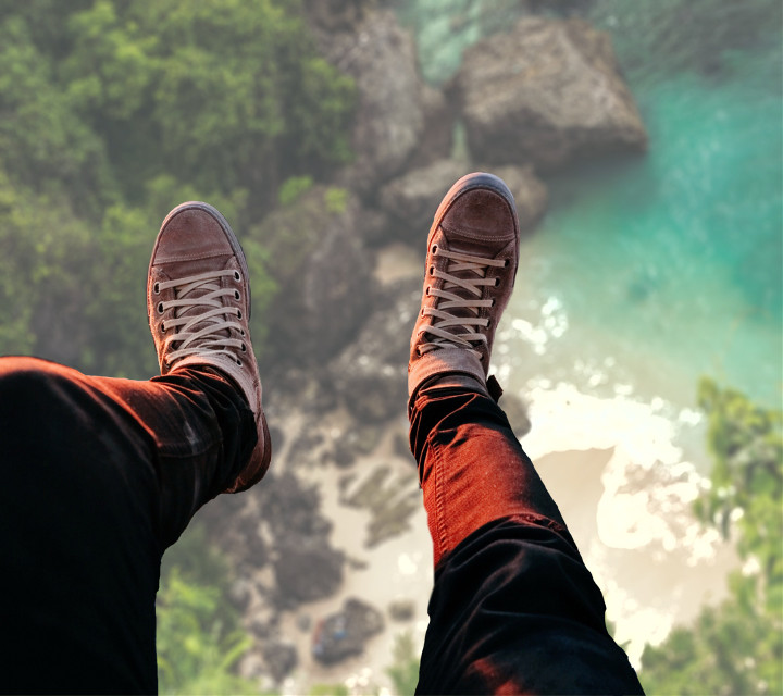 #freetoedit #replay #landscape #view #from bottom #feet #shoes #glass #view frop the top #looking down #perspective #seaside #forest #plans #background