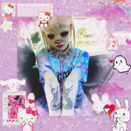 freetoedit kuromi hellokitty hellokittylover aesthetic hellokittylove frame vintage aestheticedit pinkaesthetic pinkvintage purple purpleaesthetic frames gothic goth hellokittysticker black blackbackground pinkaesthetics gothicaesthetic gothicbackground mymelody