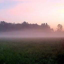 morning sun fog raise beautiful landscape picofday