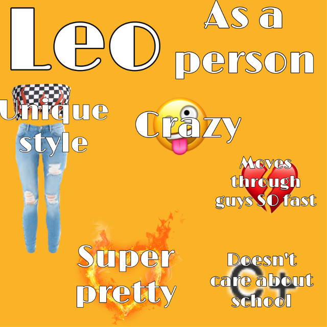 Leo as a person!!!!!    Please dont get offended!    Tags   #leo #leozodiac #zodiac #horoscope #funny #orange #niche #nichememe #pretty     🧡Kenz🧡 #freetoedit