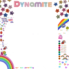 freetoedit rainbow rainbowcore core cyber cybercore hobicore bts dynamite dynamitelogo btsedits btsedit btsarmy btssticker kpop