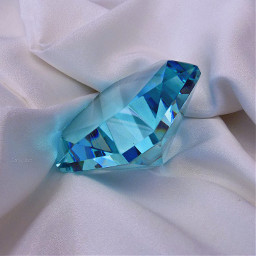 paperweight diamond fake pic myclick myphoto blue crystal gem white fabric prop stilllifephoto still_life minimal simple freetoedit