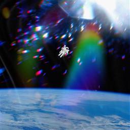 freetoedit galaxy astronaut bowiesinspace spaceship ircupinspace
