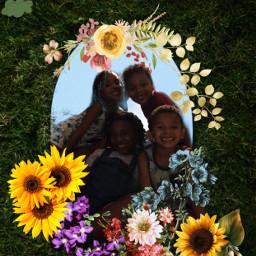 freetoedit myangels love kids smiles pose flowers rcfloralmirror