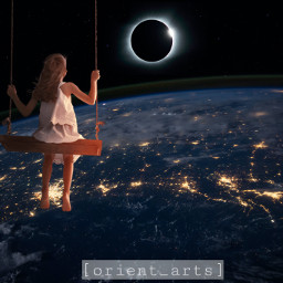 earth swing suneclipse totalsuneclipse orient_arts madewithpicsart freetoedit papicks stayinspired createfromhome remixit