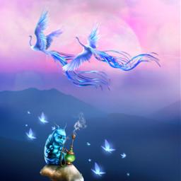 freetoedit fantasyart makebelieve alternateuniverse myimagination elf fairy troll phoenix dreamy surreal surrealistic colorful colorpop pastelcolors aestheticedit artistic becreative myedit madewithpicsart