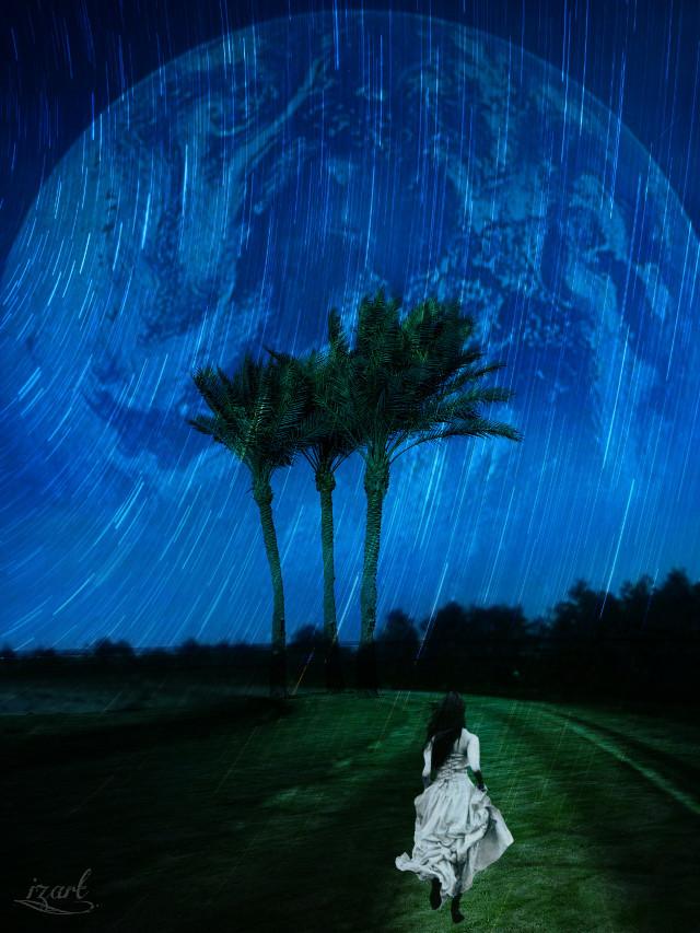 #freetoedit #madewithpicsart #picsart @picsart  #moon #myedit  #planet #art #surreal