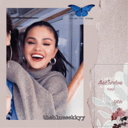 freetoedit replay selenagomez selenator butterfly sticker aesthetic blue aestheticblue flower aestheticflower vintage quotes aestheticquotes aestheticsticker newspaper paperrip