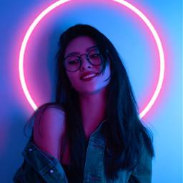 freetoedit neon led light blue