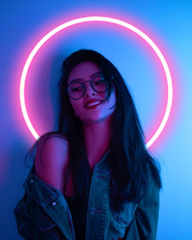 #freetoedit #neon  #led #light #blue