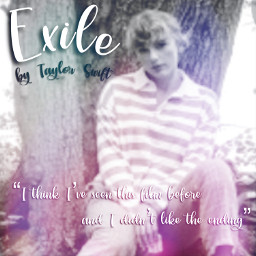 taylorswift tayloralisonswift folklore taylorswiftfolklore folkloretaylorswift exile pink grey aesthetic song singlecover songcover freetoedit