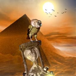 freetoedit myedit madewithpicsart editedbyme editedwithpicsart picsart surreal desert geier pyramiden replay