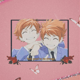 hikaruhitachiin kaoruhitachiin ouranhighschoolhostclub dontbreakthevases animewallpaper anime freetoedit