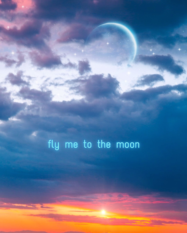 fly me to the moon so I can play among the stars #freetoedit #moon #stars #replay