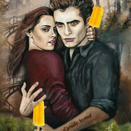 freetoedit @asweetsmile1 twilight popsicleremix color bright colorful blendedimages blend portrait creative madewithpicsart edward edwardcullen bella beautiful ircicepop icepop