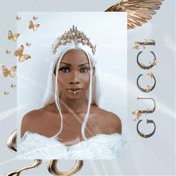 freetoedit gucci fashion queen blackqueen golden goldenhour beauty replay remixit blackandwhite love