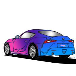 freetoedit paintedversion picsartmobile automobiletoyotasupra supra