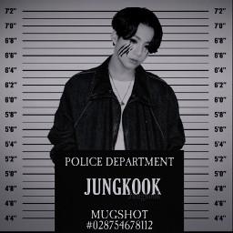 jungkook bts btsjungkook jeonjungkook kookie mugshot police crime