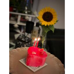 freetoedit flower freshness floweringplant red indoors candles closeup sweetfood plant nopeople dessert foodanddrinks cake celebration happiness