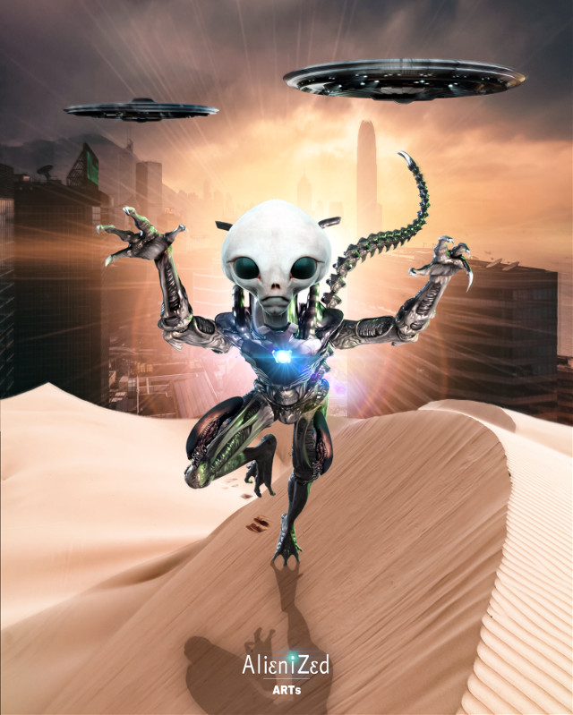Have a gr8 friday planet 👋🏻👽👉🏻☕️🍪🍩@PA 😊   #freetoedit #aliens #alien #ufos #desert backgroud #city picture OP #unsplash #scifi #sun #alienized #wallpaper #uhd #editedwithpicsart