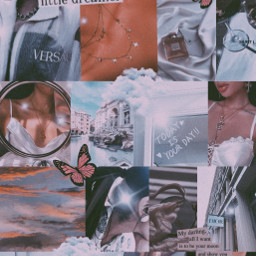 background wallpaper blue filter vogue aesthetic butterfly clouds cloud selfmade glitter fancy edit picsart picsartedit collage