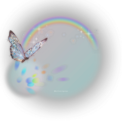 freetoedit pngbyet neon lighteffect rainbow rainbowlight papicks pattern skyandclouds butterfly glitter glittery pink sparkle shine cute white background