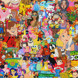 freetoedit animation disney spongebob pony patrick