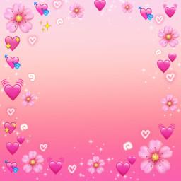 freetoedit emoji frame framestickers corazones pink rosace flores bakground fondodepantalla fondostumblr fondos border @chuliluna19