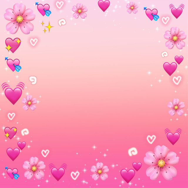 #freetoedit #emoji #frame #framestickers #corazones #pink #rosace #flores #bakground #fondodepantalla #fondostumblr #fondos#border #@chuliluna19
