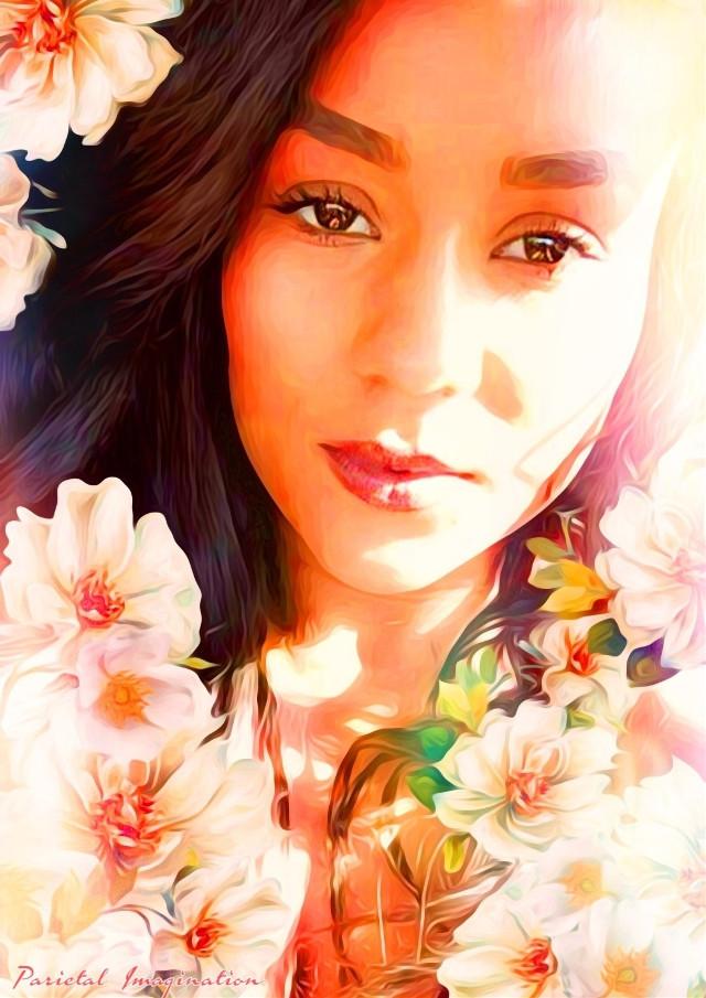 Edit by: Parietal Imagination Art @pa, Commission: Julica Rose Kelly #julicarosekelly #flowers #singer #beautiful #fx #commission #donotedit #donotremix #master #madewithpicsart #parietalimagination