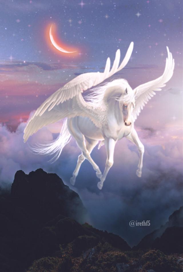 #freetoedit #fantasy #magic #Unicorn #Horse #clouds @irethf5