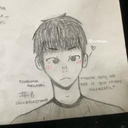 art drawing anime haikyuu haikyu tsutomugoshiki goshiki shiratorizawa ace prettyboy happybirthday