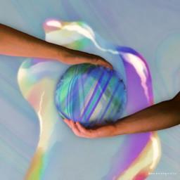 freetoedit mastershoutout holographic hands world