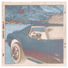 vintage aesthetic car orange saturated inverted picture background freetoedit