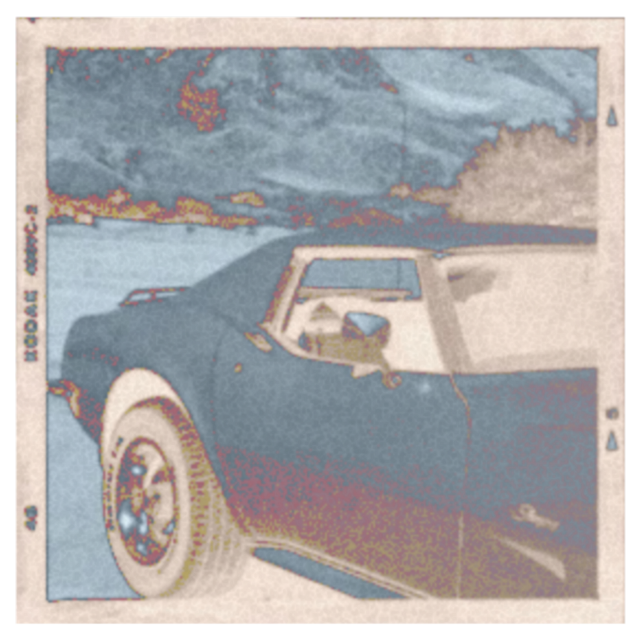 #vintage #aesthetic #car #orange #saturated #inverted #picture #background