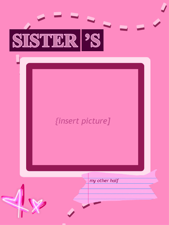 #pink #background #sisters