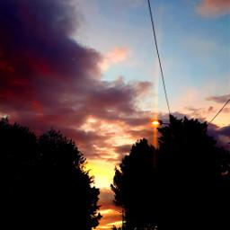 freetoedit sunset sky cloud clouds light pink red orange aesthetic landscape sunrise